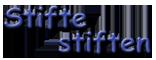 """""""Stifte stiften""""-Logo transparent Text für Presse und Blog"""