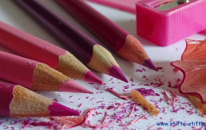 Rosa Buntstifte heiß begehrt
