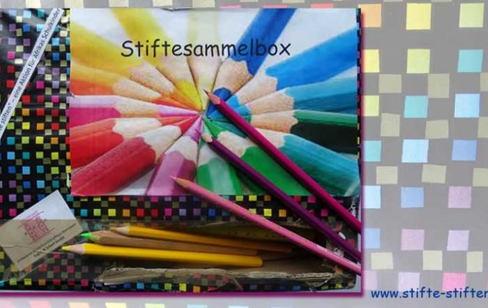 Kunterbunte Sammelbox für Stifte stiften