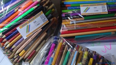 Stifte schon sortiert und verpackt