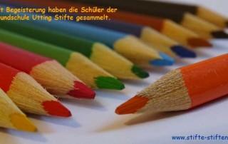 Buntstifte für Kinder in Afrika Grundschule Utting