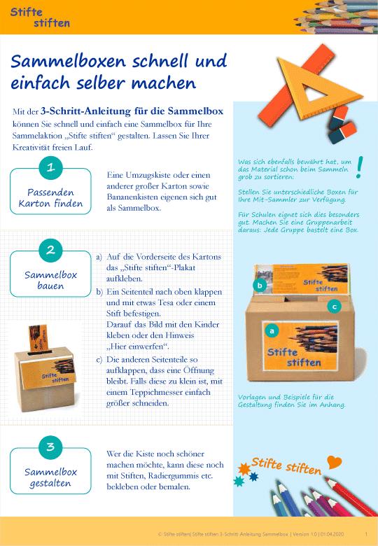 Sammelbox für Stifte stiften schnell erstellt