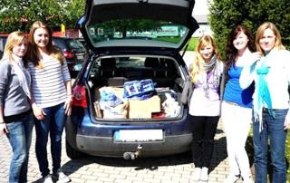 Sammelaktion der Schülerinnen Sankt Klara Realschule