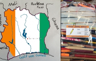Elfenbeinküste bekommt Stifte