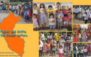 Stifte stiften schenkt Kindern in Peru Freude