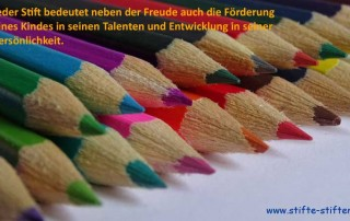 Mit Stifte stiften Talente fördern und Persönlichkeiten stärken