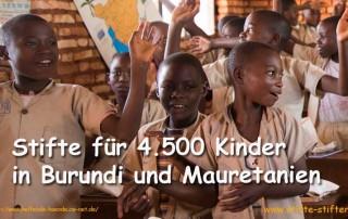 Stifte für Burundi und Mauretanien