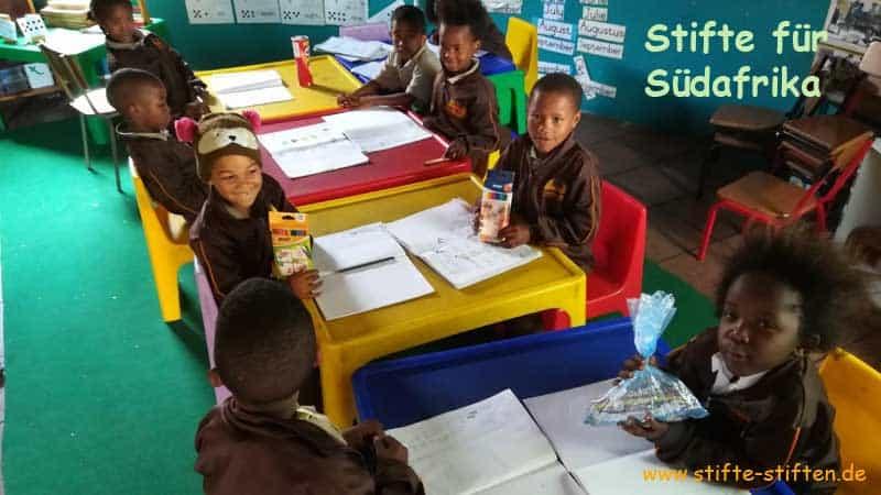 Stifte für Kinder in Südafrika