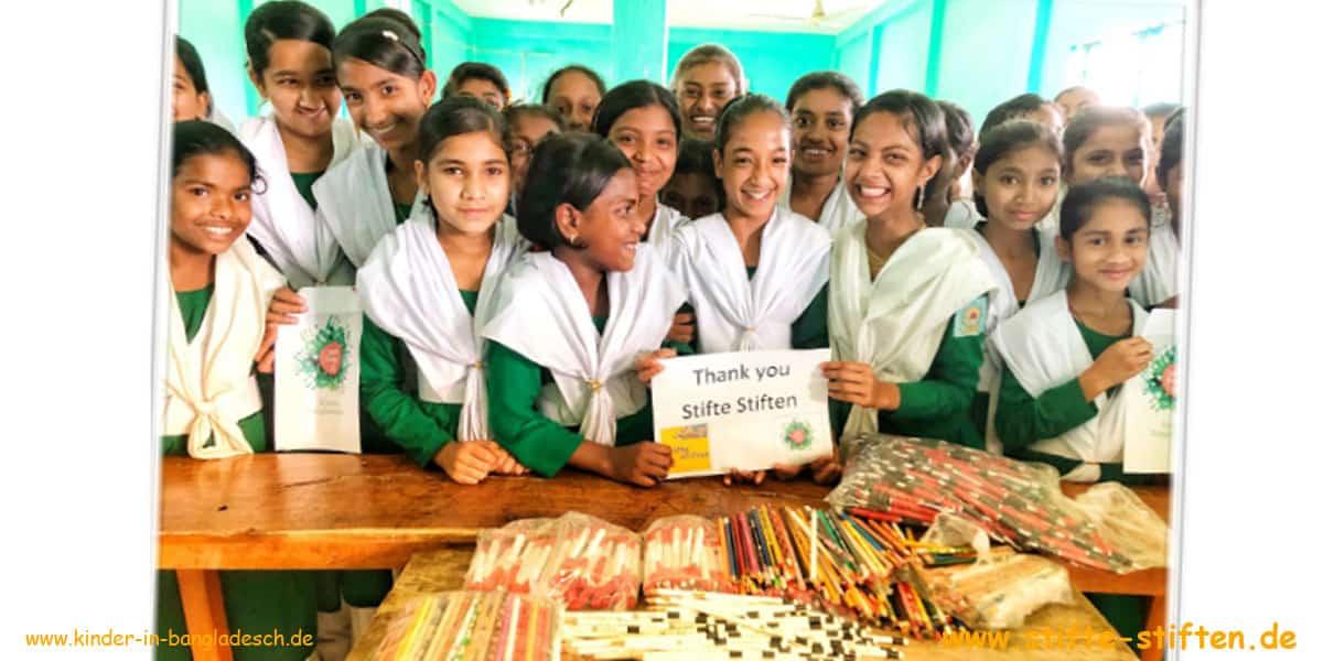 Stifte für Bangladesch