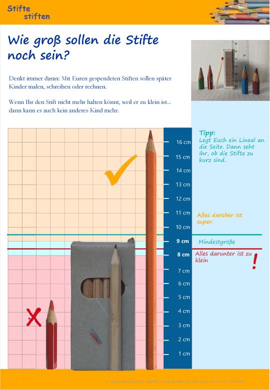 Wie gross sollen die Stifte noch sein?